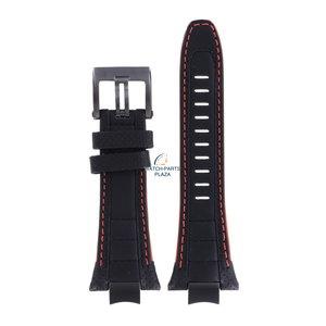 Seiko Seiko LOOR B 14 - SNAE37 Horlogeband Zwart Leer 14 mm