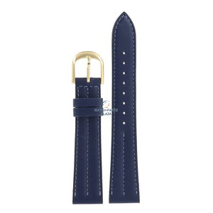 Seiko Seiko 5Y31 8A20 - SCR238 Horlogeband Blauw Leer 18 mm