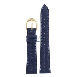 Seiko Seiko 5Y31 8A20 - SCR238 Uhrenarmband Blau Leder 18 mm