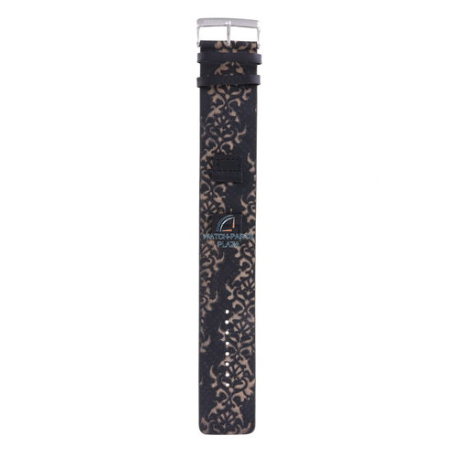 Fossil Fossil JR1009 Watch Band Black Leather 17 mm