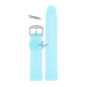 Fossil Fossil JR7866 Watch Band Light Blue Silicone 18 mm