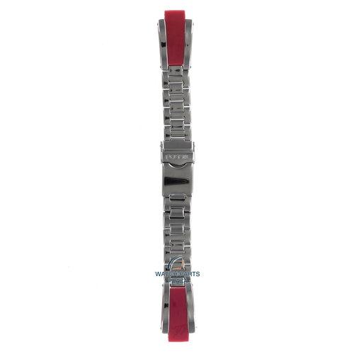 Fossil Fossil JR7972 Horlogeband Grijs Roestvrijstaal 10 mm