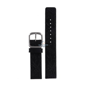 Fossil Fossil JR8018 Watch Band Black Leather 18 mm
