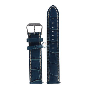 Fossil Fossil JR8035 Watch Band Blue Leather 18 mm