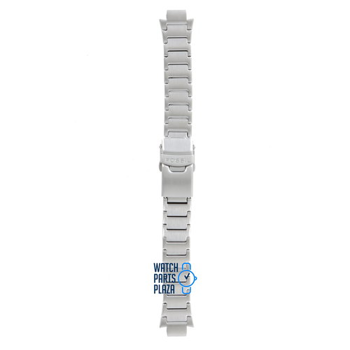 Fossil Fossil JR8000 Watch Band Grey Stainless Steel 10 mm