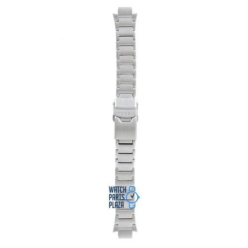Fossil Fossil JR8000 Uhrenarmband Grau Edelstahl 10 mm