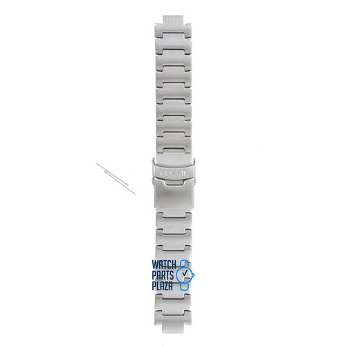 Fossil Fossil JR8001 Watch Band Grey Stainless Steel 12 mm