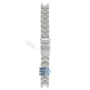Fossil Fossil JR8038 Horlogeband Grijs Roestvrijstaal 18 mm