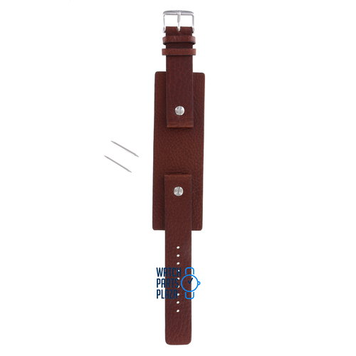 Fossil Fossil JR8123 & JR8125 Watch Band Brown Leather 20 mm
