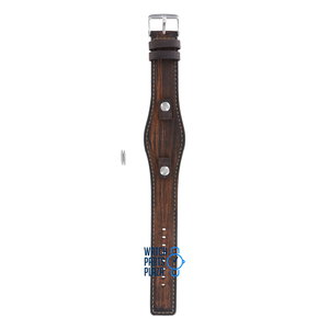 Fossil Fossil JR8130 Watch Band Brown Leather 10 mm
