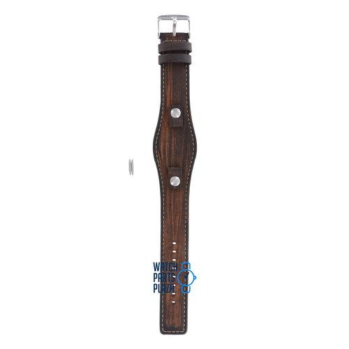 Fossil Fossil JR8130 Horlogeband Bruin Leer 10 mm