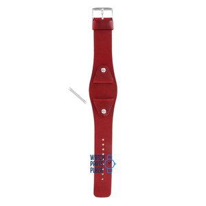 Fossil Fossil JR8134 Horlogeband Rood Leer 24 mm