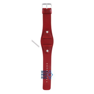 Fossil Fossil JR8134 Watch Band Red Leather 24 mm