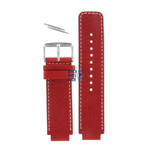 Fossil Fossil JR8138 Watch Band Red Leather 16 mm