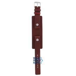 Fossil Fossil JR8163 & JR8260 Watch Band Brown Leather 16 mm