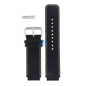 Fossil Fossil JR8166 Watch Band Black Leather 20 mm
