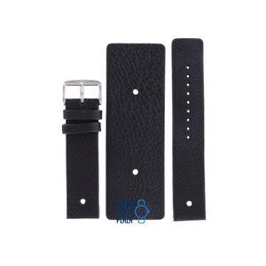 Fossil Fossil JR8169 Cuff Watch Band Black Leather 22 mm