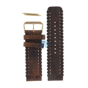 Fossil Fossil JR8181 Watch Band Brown Leather 24 mm