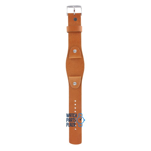 Fossil Fossil JR8185 Cuff Watch Band Light Brown Leather 20 mm