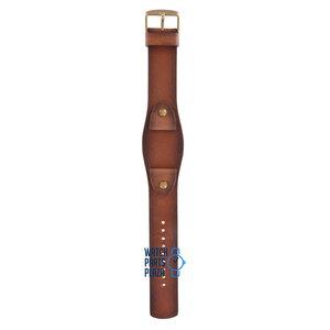 Fossil Fossil JR8186 Horlogeband Bruin Leer 20 mm