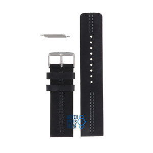 Fossil Fossil JR8212 Watch Band Black Leather 24 mm