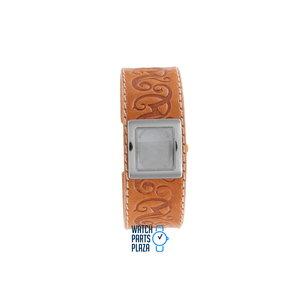 Fossil Fossil JR8248 Horlogeband Lichtbruin Leer 22 mm