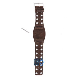 Fossil Fossil JR8306 Watch Band Dark Brown Leather 27 mm