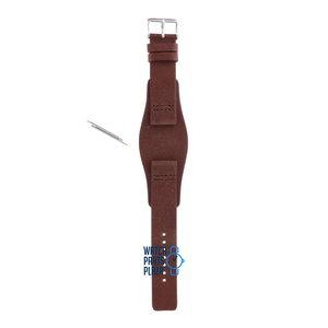 Fossil Fossil JR8339 Horlogeband Bruin Leer 20 mm