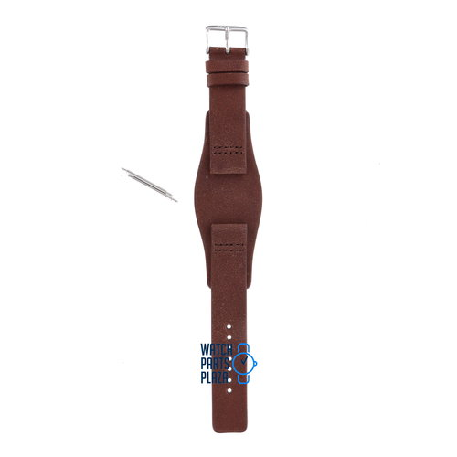 Fossil Fossil JR8339 Watch Band Brown Leather 20 mm