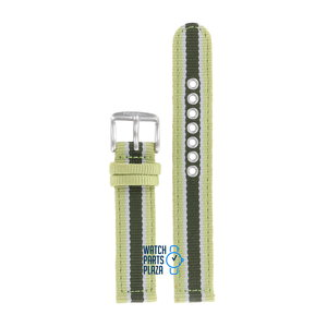 Fossil Fossil JR8355 Watch Band Green Leather & Textile 17 mm