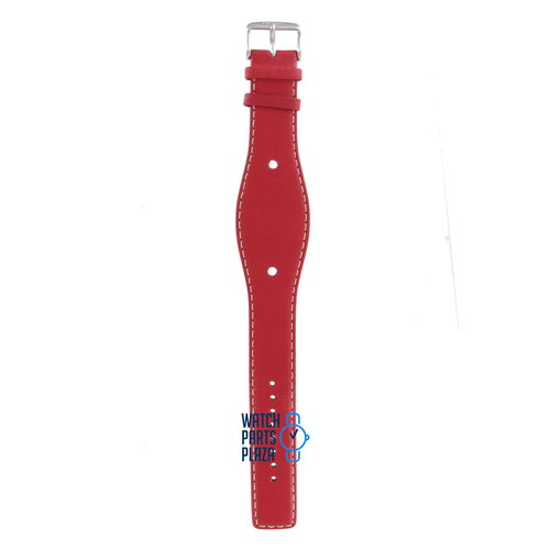 Fossil Fossil JR8366 Watch Band Red Leather 10 mm