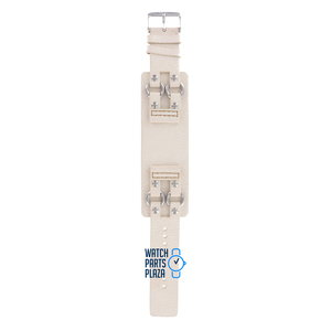 Fossil Fossil JR8361 Watch Band White Leather 24 mm