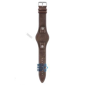 Fossil Fossil JR8381 Horlogeband Bruin Leer 18 mm