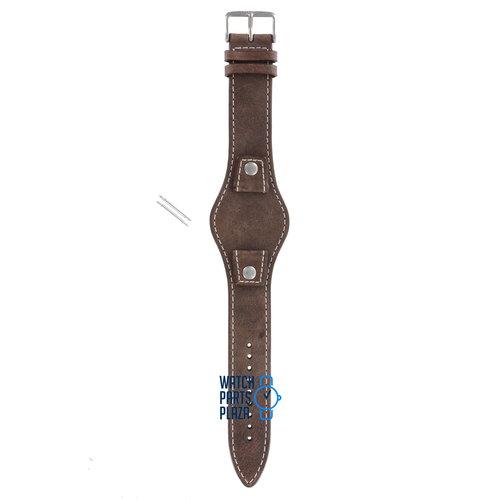Fossil Fossil JR8381 Uhrenarmband Braun Leder 18 mm