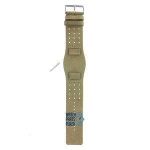Fossil Fossil JR8384 Horlogeband Groen Leer 19 mm