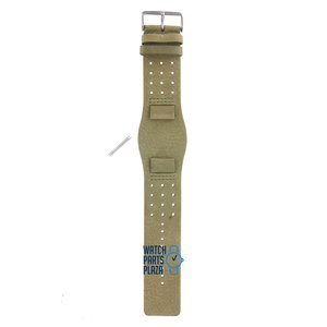 Fossil Fossil JR8384 Watch Band Green Leather 19 mm