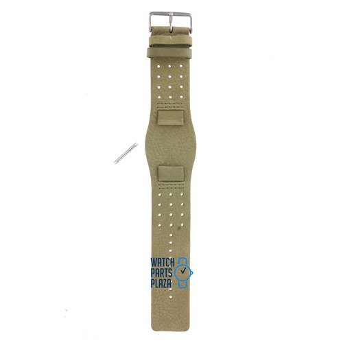 Fossil Fossil JR8384 Bracelet De Montre Vert Cuir 19 mm