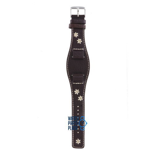 Fossil Fossil JR8452 Watch Band Dark Brown Leather 16 mm