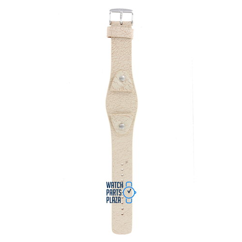 Fossil Fossil JR8481 Uhrenarmband Weiß Leder 24 mm