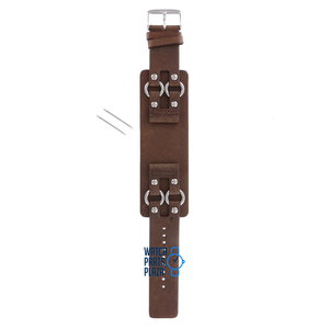Fossil Fossil JR8482 Watch Band Brown Leather 24 mm