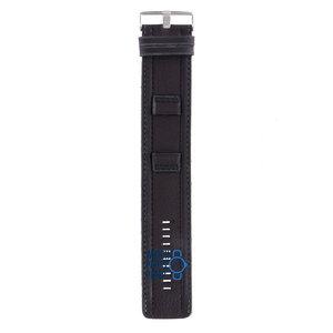 Fossil Fossil JR8488 Horlogeband Zwart Leer 22 mm