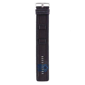 Fossil Fossil JR8488 Watch Band Black Leather 22 mm