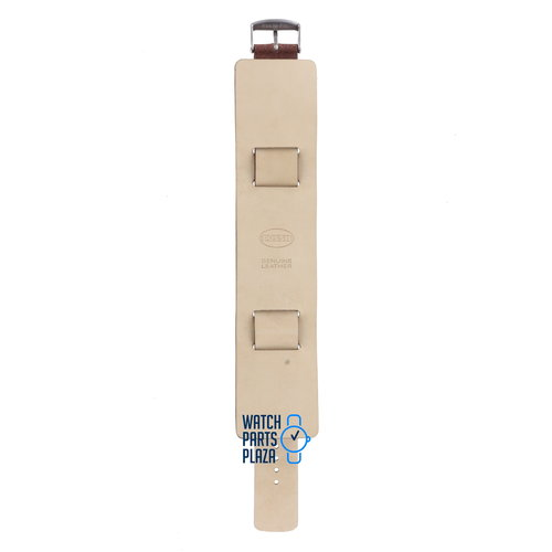 Fossil Fossil JR8503 Eagle Display Watch Band JR-8503 Brown Leather 18 mm Big Tic