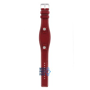 Fossil Fossil JR8511 Watch Band Red Leather 09 mm