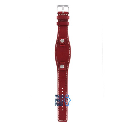 Fossil Fossil JR8511 Watch Band JR-8511 Red Leather 09 mm Set
