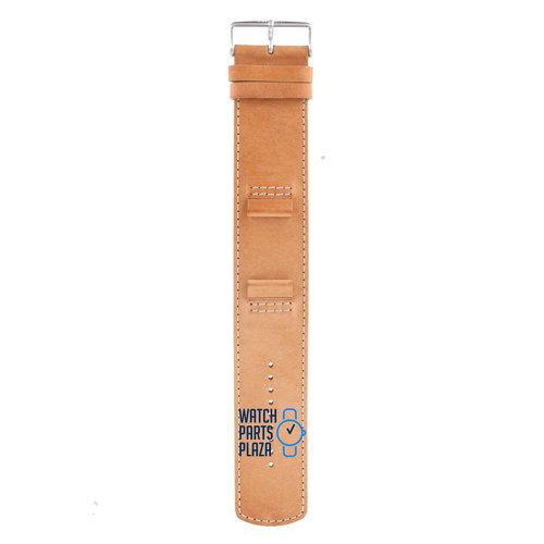 Fossil Fossil JR8515 Watch Band Light Brown Leather 20 mm