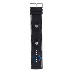 Fossil Fossil JR8570 BAW Watch Band Black Leather 20 mm