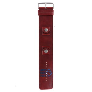 Fossil Fossil JR8576 BAW Watch Band Red Leather 20 mm