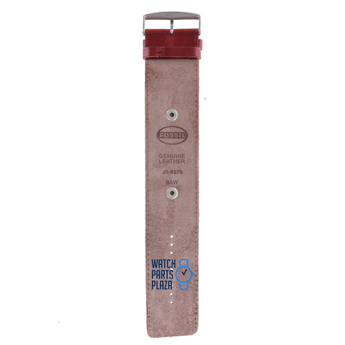 Fossil Fossil JR8576 BAW Watch Band JR-8576 Red Leather 20 mm