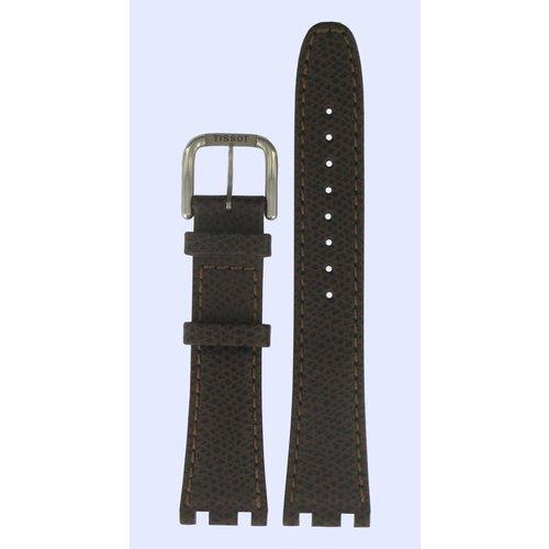 Tissot Tissot T37177012A Horlogeband Donkerbruin Leer 20 mm